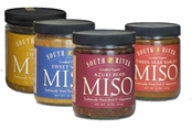 "Sampler 1 - Four 1 lb. Glass Jars of Organic Miso + ""The Little Book of Miso Recipes"""